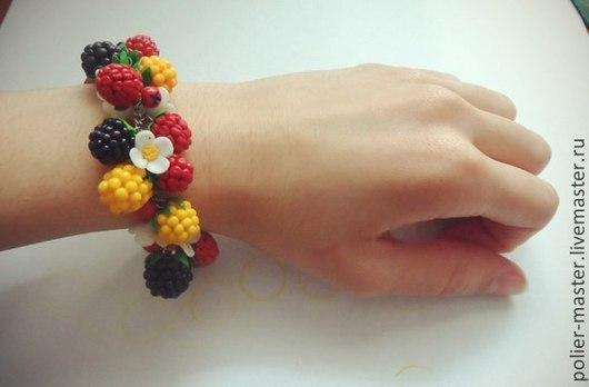 """Браслеты ручной работы. Ярмарка Мастеров - ручная работа. Купить Браслет на руку """"Малиновый рай"""". Handmade. Разноцветный"""