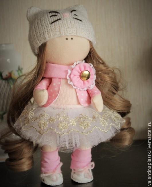 Куклы тыквоголовки ручной работы. Ярмарка Мастеров - ручная работа. Купить Куколка. Handmade. Бледно-розовый, кукла, кукла текстильная