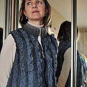 Одежда ручной работы. Ярмарка Мастеров - ручная работа Жилет из шерсти и шелка. Handmade.