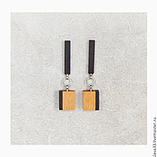 Украшения handmade. Livemaster - original item Stylish rectangular earrings.. Handmade.