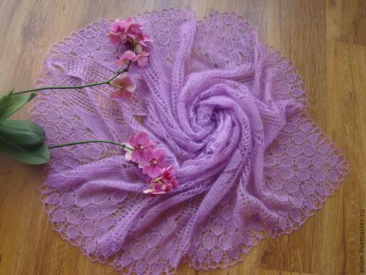"""Шали, палантины ручной работы. Ярмарка Мастеров - ручная работа. Купить Шаль """"Изящная"""". Handmade. Розовый, шали вязаные пушистые"""