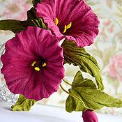 Украшения handmade. Livemaster - original item Leather flowers Brooch Bindweed. Handmade.