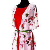 Одежда ручной работы. Ярмарка Мастеров - ручная работа Летнее платье с накидкой из шифона. Handmade.