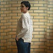 Одежда ручной работы. Ярмарка Мастеров - ручная работа Вязаный джемпер с ажурной спинкой. Handmade.