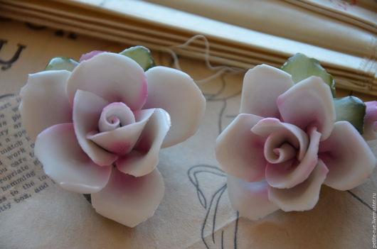 Винтажные предметы интерьера. Ярмарка Мастеров - ручная работа. Купить Capodimonte розы. Handmade. Белый, capodimonte