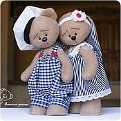 Куклы и игрушки ручной работы. Ярмарка Мастеров - ручная работа Зайка и Мишка морские. Handmade.