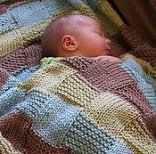 Работы для детей, ручной работы. Ярмарка Мастеров - ручная работа Плед для новорожденных, вязаный плед для новорожденных. Handmade.