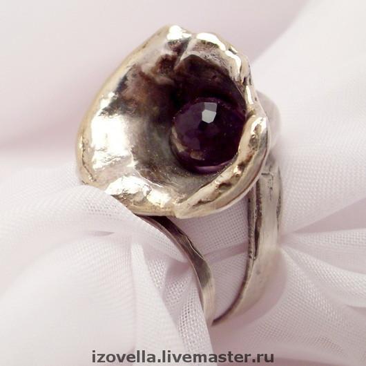 """Кольца ручной работы. Ярмарка Мастеров - ручная работа. Купить Кольцо """"Орхидея"""" - серебро 925, аметист. Handmade. фиолетовый"""