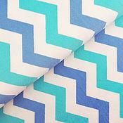 Ткани ручной работы. Ярмарка Мастеров - ручная работа Плюш шеврон голубой. Handmade.
