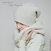 Аксессуары handmade. Livemaster - original item Knit set hat and cowl