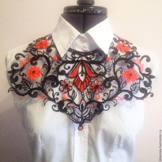 Колье ` Линии из цветов`   Irina Khanney