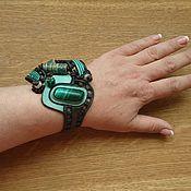 """Украшения ручной работы. Ярмарка Мастеров - ручная работа """"Зеленый шоколад - ловец удачи"""" браслет .. Handmade."""