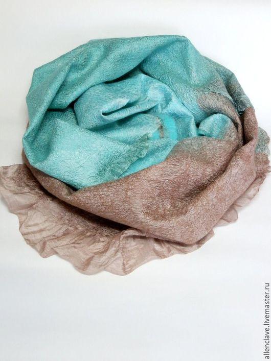 Шарфы и шарфики ручной работы. Ярмарка Мастеров - ручная работа. Купить шарф валяный Мятная конфетка. Handmade. Абстрактный