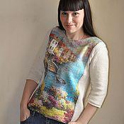 Одежда handmade. Livemaster - original item Knit-felted sweater