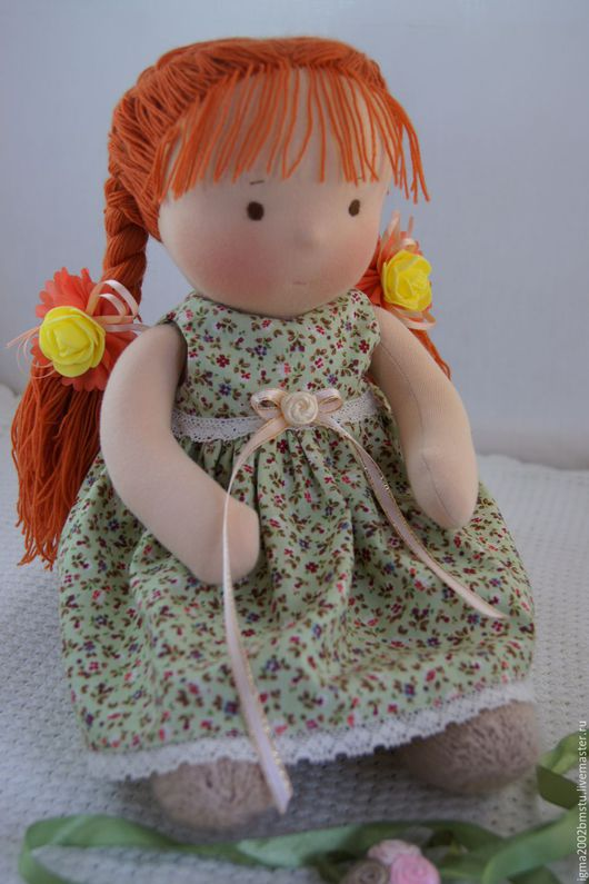 Вальдорфская игрушка ручной работы. Ярмарка Мастеров - ручная работа. Купить Куколка по вальдорфским мотивам Солнышко. Handmade. Вальдорфская кукла