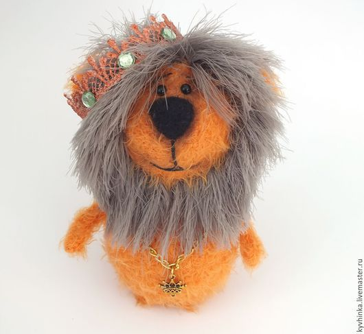 Игрушки животные, ручной работы. Ярмарка Мастеров - ручная работа. Купить Лев. Царь - просто Царь. Handmade. Рыжий