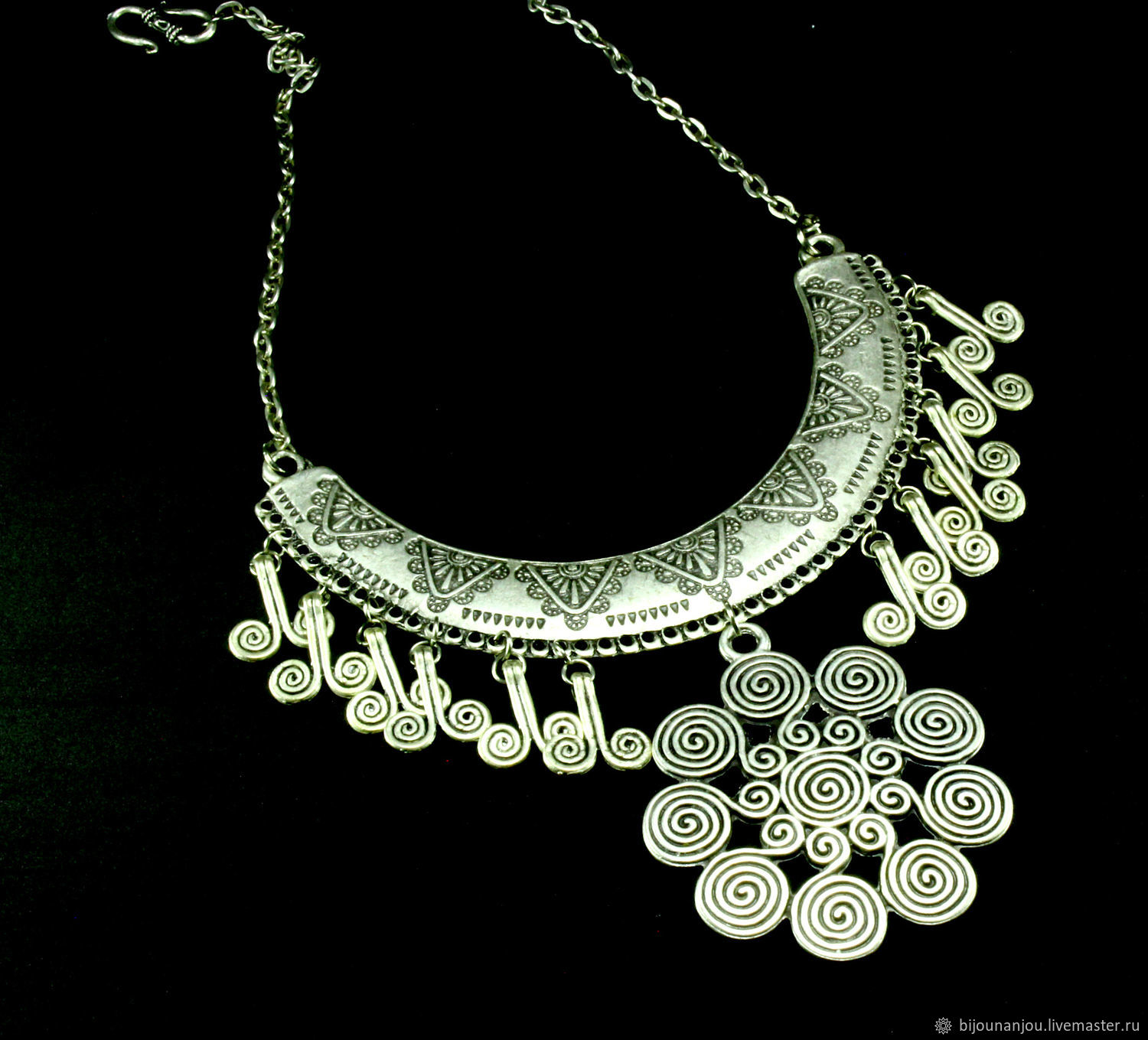 Necklace made of Nickel silver with silver plating and beads, Necklace, Yerevan,  Фото №1