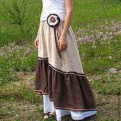 Одежда handmade. Livemaster - original item The floor-length skirt linen