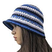 Аксессуары handmade. Livemaster - original item Panama blue Summer Sangria. Handmade.