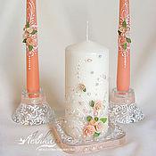 Свадебный салон ручной работы. Ярмарка Мастеров - ручная работа Свечи для свадебной церемонии. Handmade.
