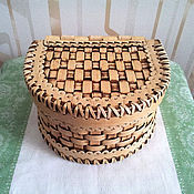 Для дома и интерьера handmade. Livemaster - original item Box of birch bark wicker. The box of wood. Handmade.