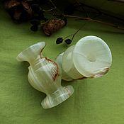 Фен-шуй и эзотерика handmade. Livemaster - original item A candle holder made of marble onyx. Handmade.