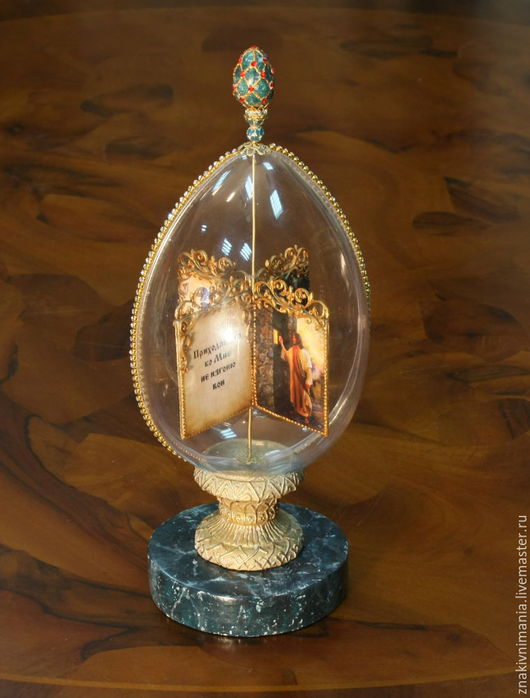 Декоративное яйцо `Пасха наша - Христос`