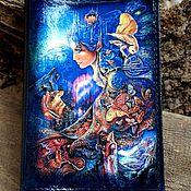 """Канцелярские товары ручной работы. Ярмарка Мастеров - ручная работа Обложка натуральная кожа паспорт документы """"Фэнтези"""". Handmade."""