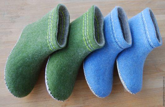 """Обувь ручной работы. Ярмарка Мастеров - ручная работа. Купить Валенки домашние """"Разноцветные"""". Handmade. Комбинированный, шерсть овечья"""