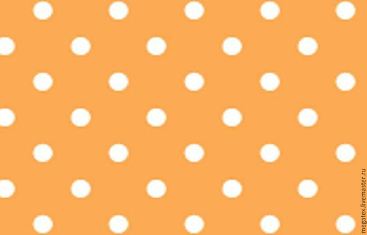 перкаль от Трехгорной мануфактуры `Горошки на оранжевом`. Шитье. МегаТекс