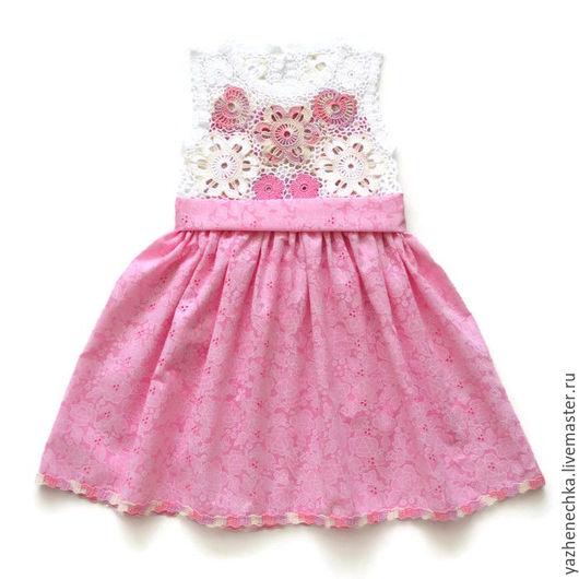 Одежда для девочек, ручной работы. Ярмарка Мастеров - ручная работа. Купить Платье из хлопка для девочки Бабочки. Handmade. Платье для девочки
