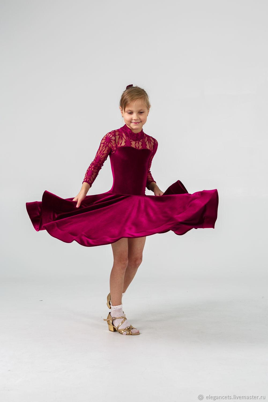 Children's Dance Costumes handmade. Livemaster - handmade. Buy Juvenal (basic) dress for ballroom dancing PUNCH.Dance