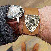 Украшения handmade. Livemaster - original item Leather bracelet - Viking. Handmade.
