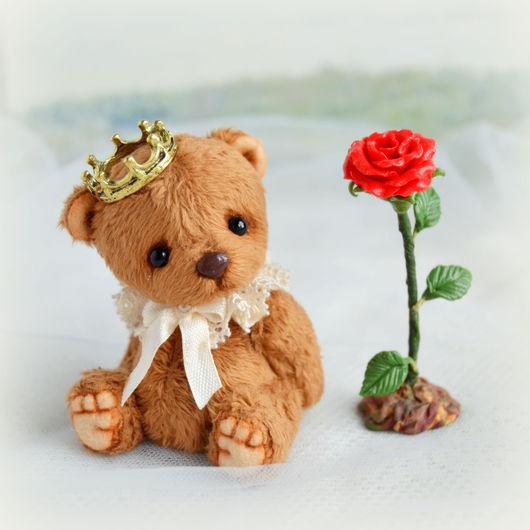 Мишки Тедди ручной работы. Ярмарка Мастеров - ручная работа. Купить Маленький Принц (6,5 см). Handmade. Бежевый