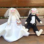 Приглашения ручной работы. Ярмарка Мастеров - ручная работа Свадебные Зайцы, подарок на годовщину свадьбы, оригинальный подарок. Handmade.