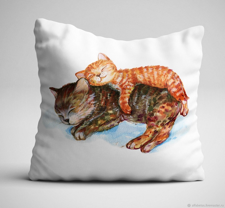 Подушка с котятами, Мягкие игрушки, Ставрополь,  Фото №1