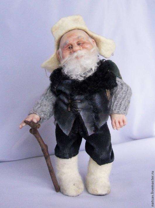 Коллекционные куклы ручной работы. Ярмарка Мастеров - ручная работа. Купить Дед Лукьян  (нашел дом). Handmade. Гном, дед