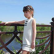 Работы для детей, ручной работы. Ярмарка Мастеров - ручная работа Платье морское Мисс Капитан вязаное детское. Handmade.