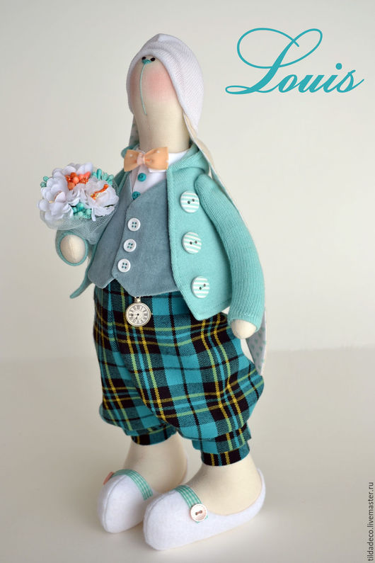 Куклы Тильды ручной работы. Ярмарка Мастеров - ручная работа. Купить Текстильный весенний зайка Louis. Handmade. Пасха, подарок