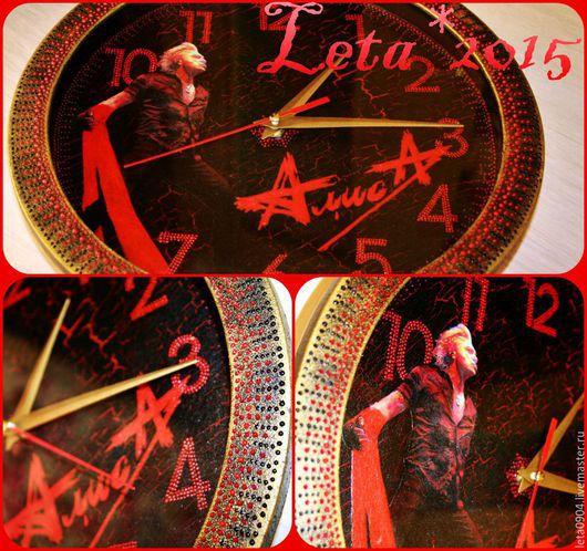 """Часы для дома ручной работы. Ярмарка Мастеров - ручная работа. Купить Часы """" Слово как живая вода..."""". Handmade."""
