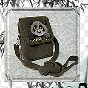 Сумки и аксессуары handmade. Livemaster - original item Panda walking bag. Handmade.