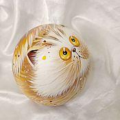 Сувениры и подарки handmade. Livemaster - original item Cat Peach A La cats Kim Haskins Music ball tumbler. Handmade.