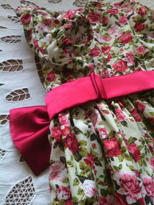 """Одежда для девочек, ручной работы. Ярмарка Мастеров - ручная работа. Купить Платье """"Английские розы"""". Handmade. Платье летнее, цветочный"""
