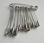 Материалы для творчества ручной работы. Ярмарка Мастеров - ручная работа Набор английских булавок, 3 размера, 12 штук, стальные. Handmade.