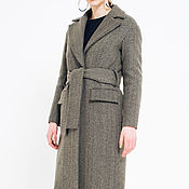 "Одежда handmade. Livemaster - original item Copy of Wool coat ""Grey fir-tree"". Handmade."