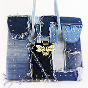 Сумки и аксессуары handmade. Livemaster - original item Denim bag Large women`s tote bag from Denim jeans fashion. Handmade.