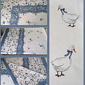 Для дома и интерьера handmade. Livemaster - original item GEESE tablecloth in stock. Handmade.