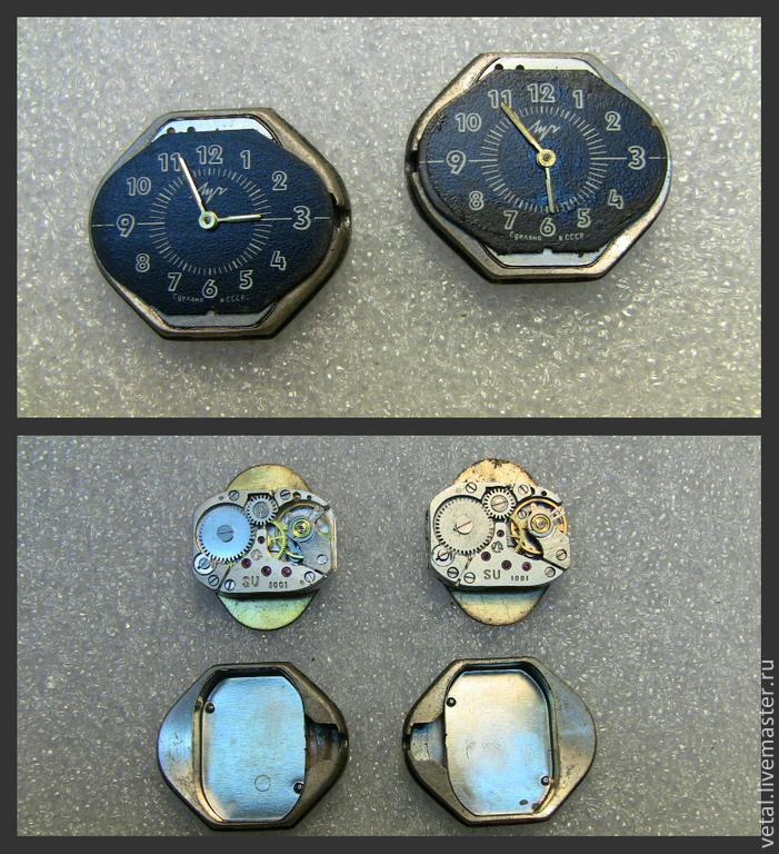 Часы ЛУЧ. 160руб пара. диаметр 21,5Х25 диаметр механизма 14Х19мм