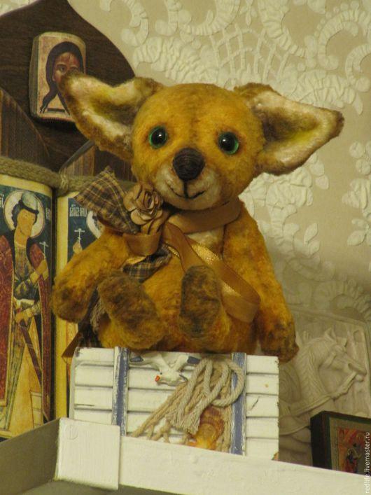 Мишки Тедди ручной работы. Ярмарка Мастеров - ручная работа. Купить Игрушка Лисенок тедди (друзья тедди)  Люсик - нежное рыжее чудо. Handmade.