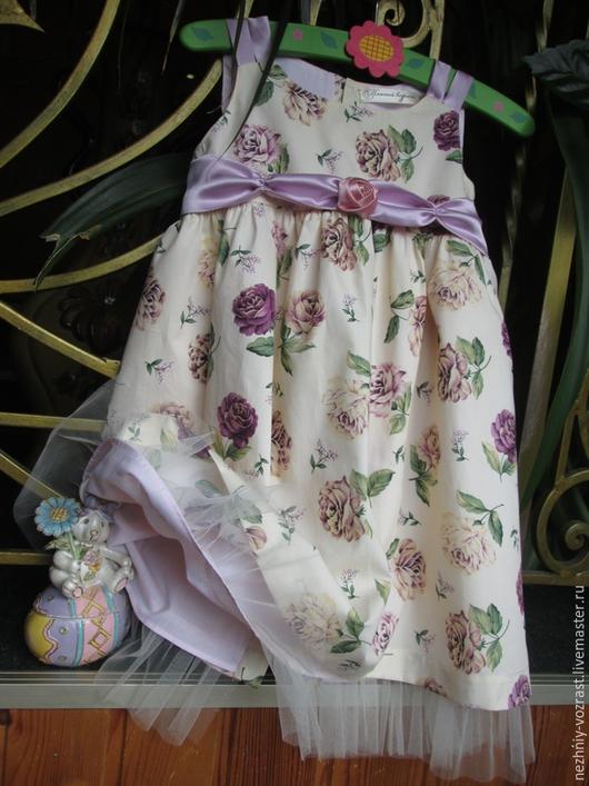 """Одежда для девочек, ручной работы. Ярмарка Мастеров - ручная работа. Купить Платье  """"Каталина"""". Handmade. Разноцветный, в гости, американский хлопок"""